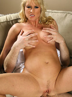 blonde mature babe likes the feel of younger cock